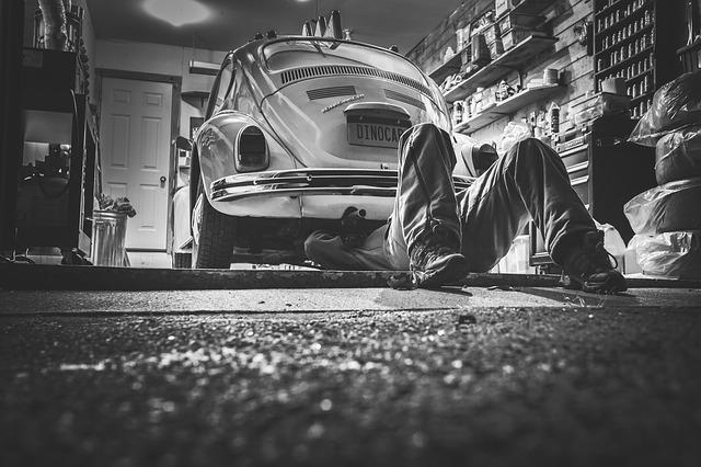 Auto Reparatur ohne Anheben